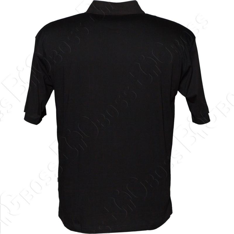 Поло чёрного цвета Borcan Club 2