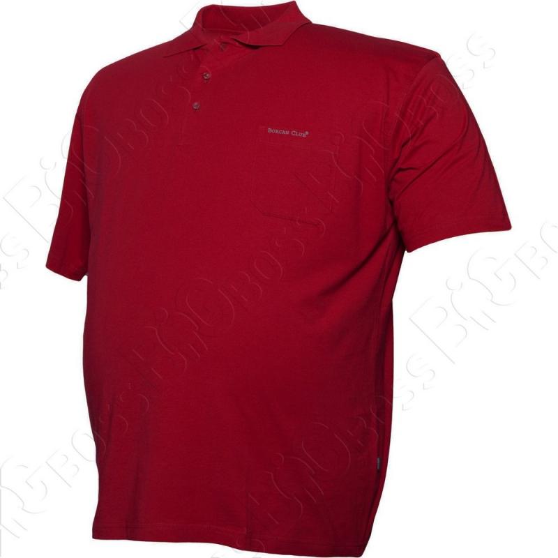Поло бордового цвета Borcan Club 0