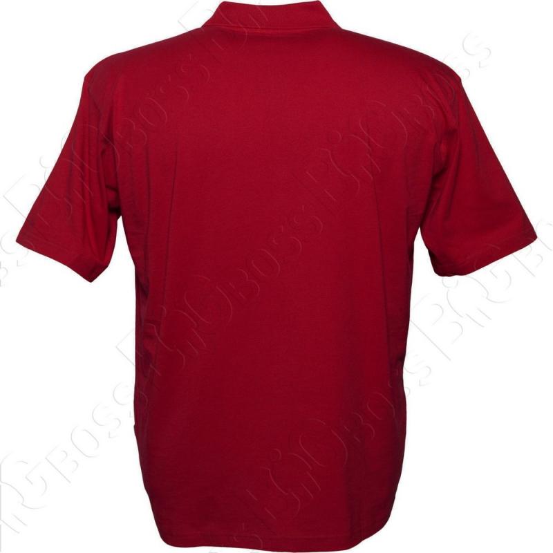 Поло бордового цвета Borcan Club 2