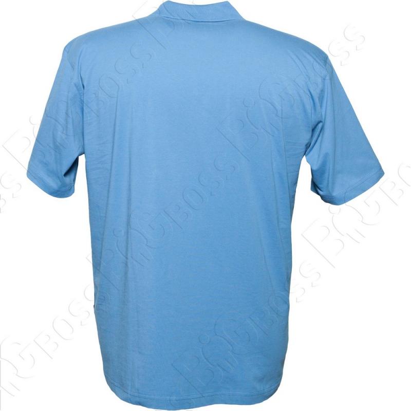 Поло голубого цвета Borcan Club 2