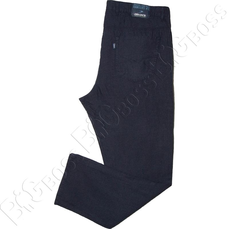 Льняные брюки тёмно синего цвета Dekons 3