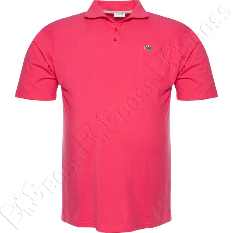 Поло лакоста розового цвета Big Team 0