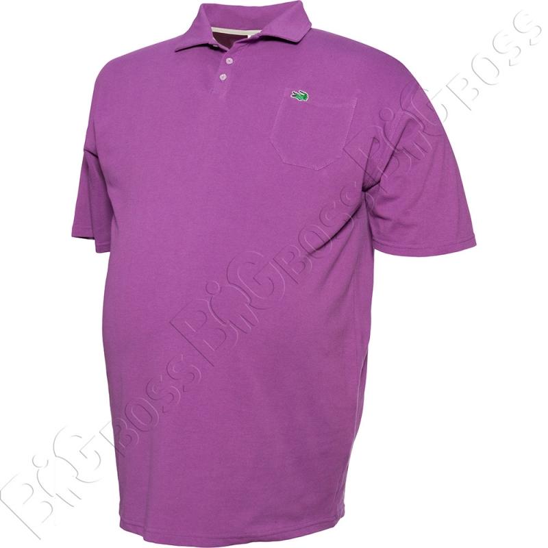 Поло лакоста фиолетового цвета Big Team 2