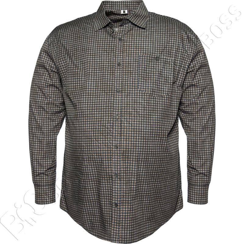 Рубашка в мелкую клетку Big Team 0