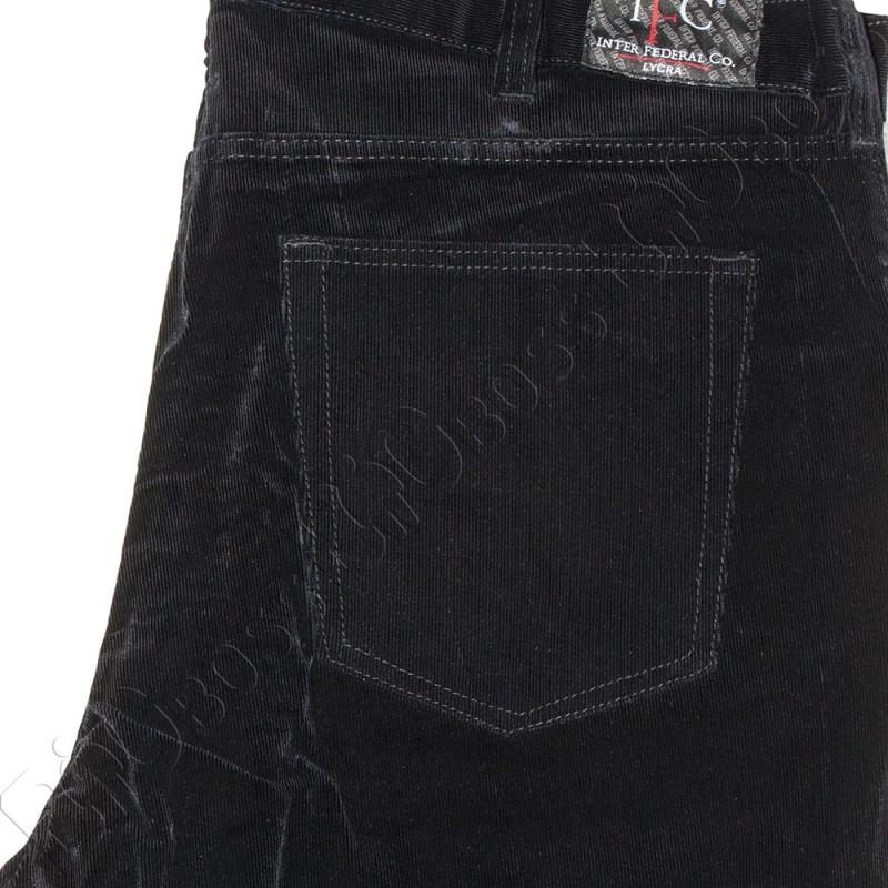 Вельветовые штаны чёрного цвета IFC 4