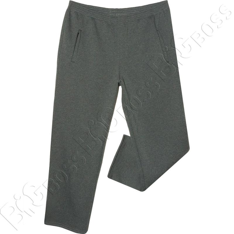 Тёплые (зимние) спортивные штаны серого цвета Big Team 0