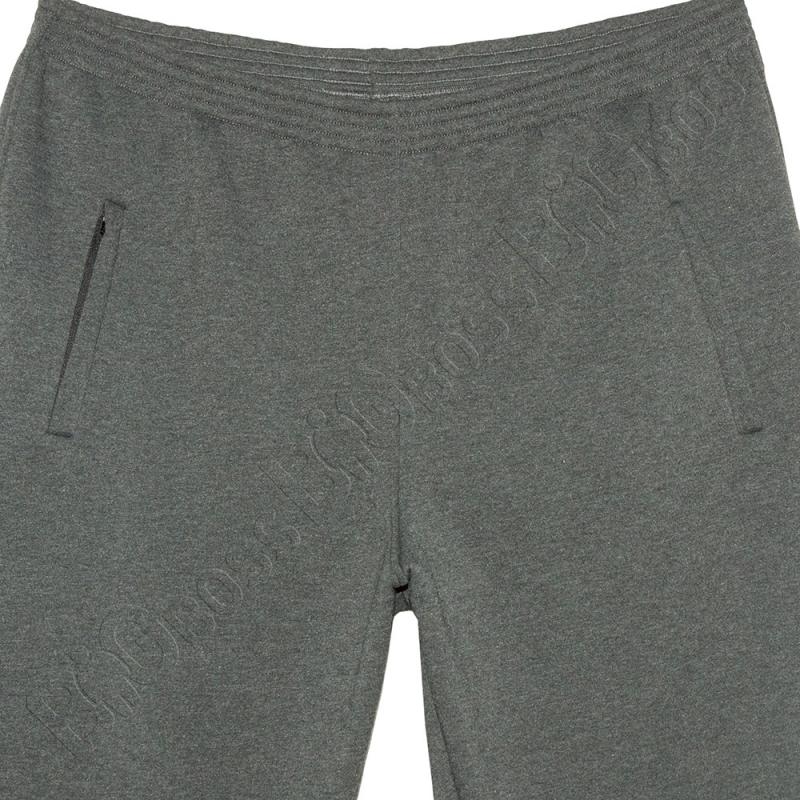 Тёплые (зимние) спортивные штаны серого цвета Big Team 1