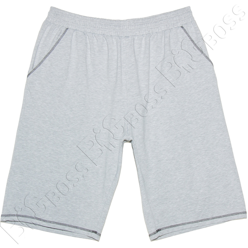 Трикотажные шорты (100% хб) светло серого цвета Big Team 0