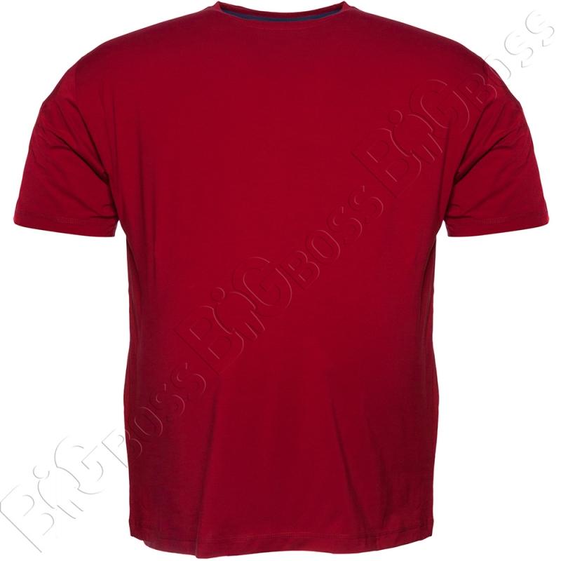 Футболка однотонная бордового цвета (2) Big Team 0