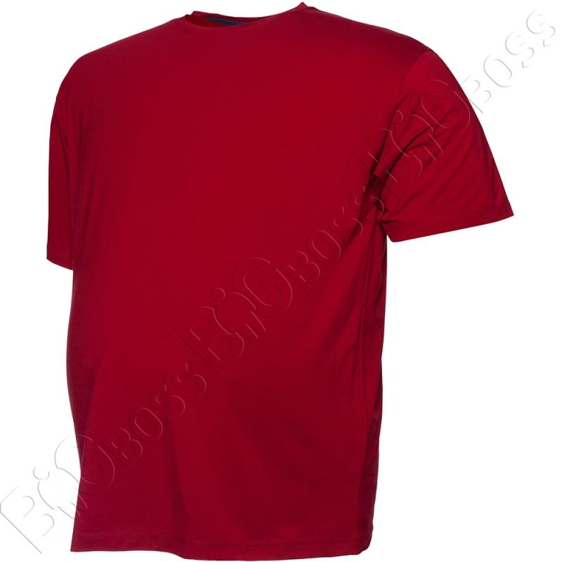 Футболка однотонная бордового цвета (2) Big Team 2