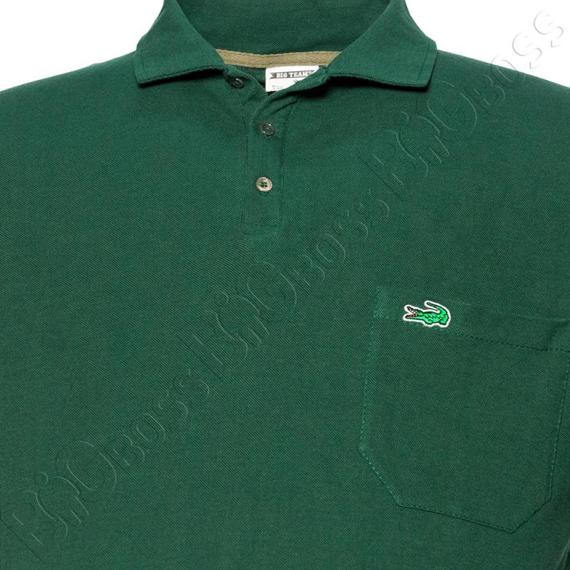 Поло лакоста зелёного цвета Big Team 1