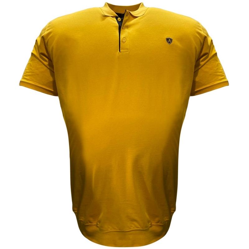 Поло лакоста на манжете жёлтого цвета Annex 0