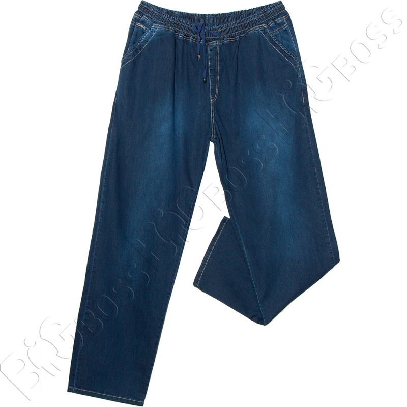 Летние джинсы на резинке тёмно синего цвета Dekons 0
