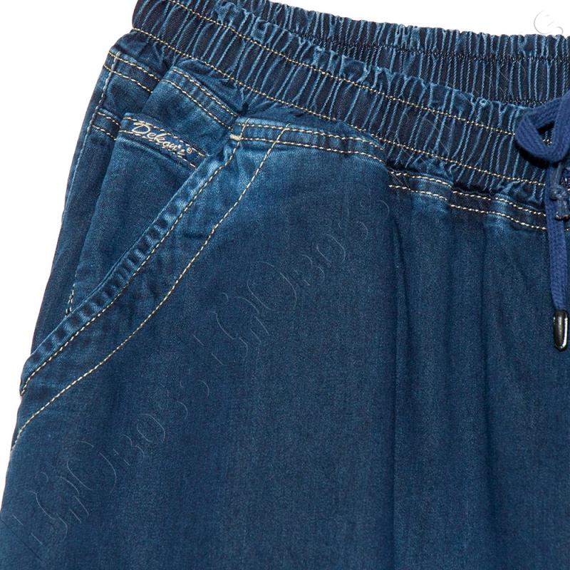 Летние джинсы на резинке тёмно синего цвета Dekons 2