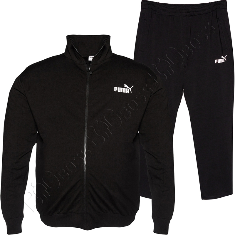 Трикотажный спортивный костюм чёрного цвета BIG TEAM 0