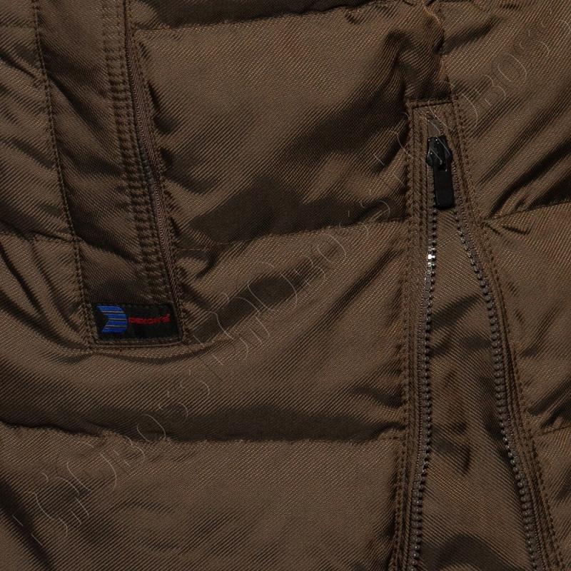 Зимняя куртка прямого кроя цвета хаки Dekons 4