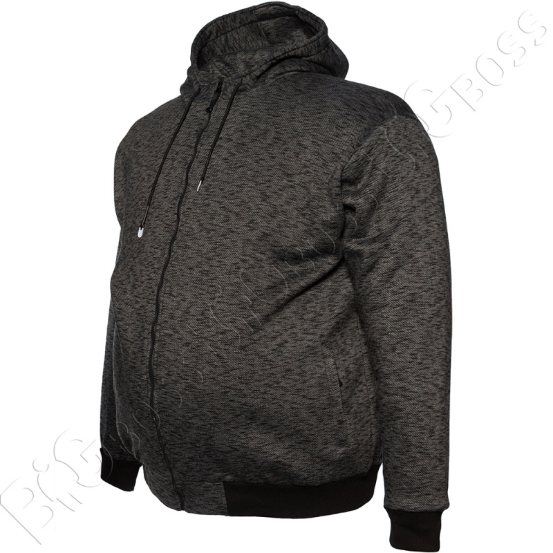 Тёплая (зимняя) толстовка чёрного цвета Big Team 3