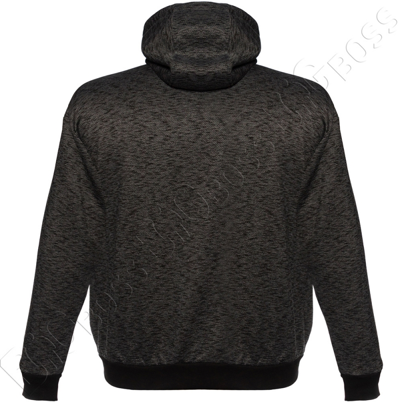 Тёплая (зимняя) толстовка чёрного цвета Big Team 4
