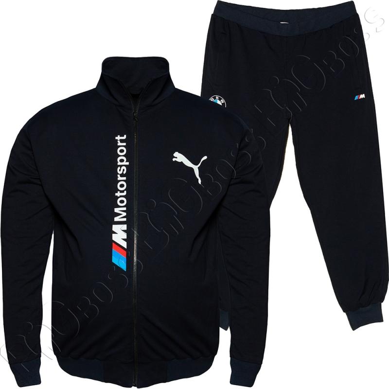 Трикотажный спортивный костюм тёмно синего цвета BIG TEAM 0