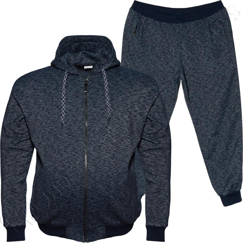 Тёплый (зимний) спортивный костюм синего цвета Big Team 0