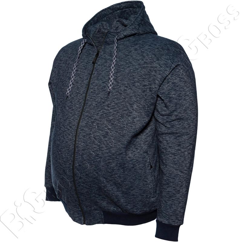 Тёплый (зимний) спортивный костюм синего цвета Big Team 4
