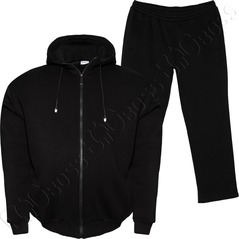 Тёплый (зимний) спортивный костюм чёрного цвета Big Team 0