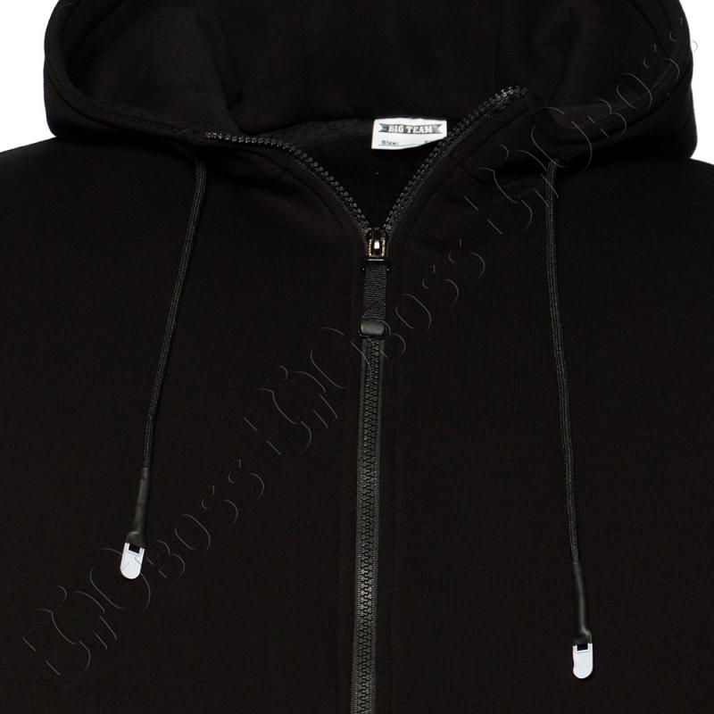 Тёплый (зимний) спортивный костюм чёрного цвета Big Team 2