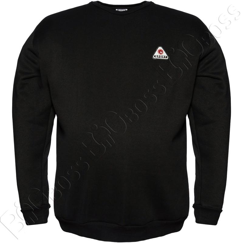 Толстовка тёплая чёрного цвета Big Team 0