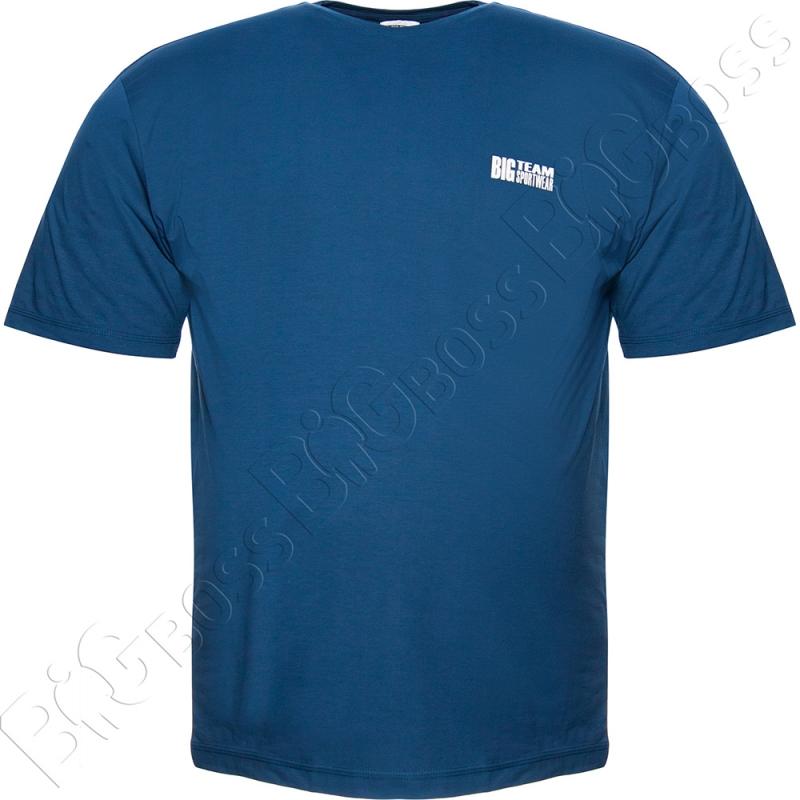 Футболка джинсового цвета Big Team 0