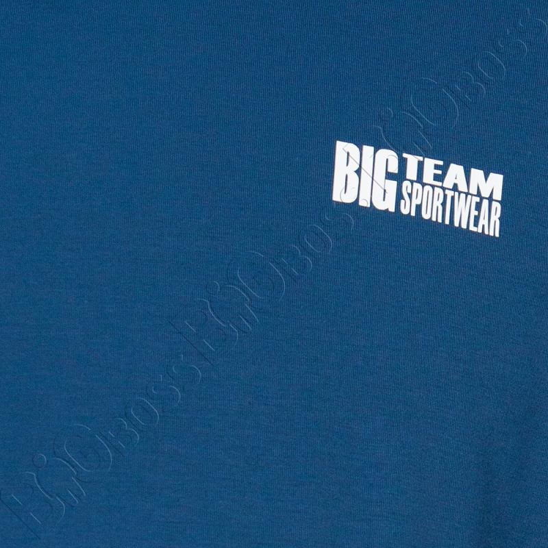 Футболка джинсового цвета Big Team 1