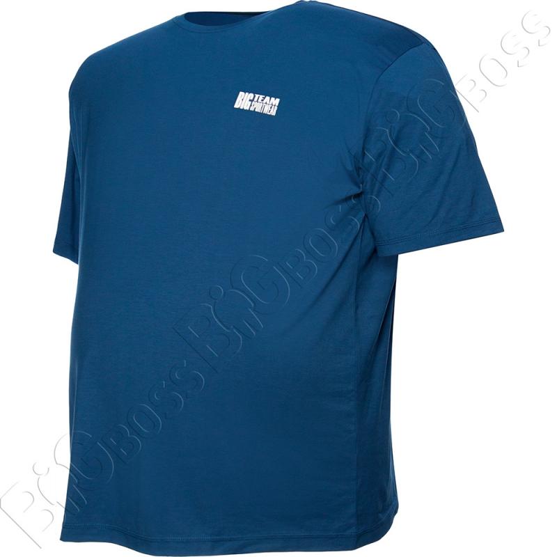 Футболка джинсового цвета Big Team 2