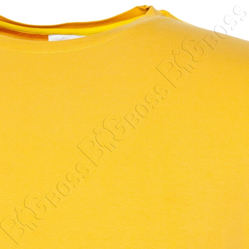 Футболка однотонная горчичного цвета Big Team 1