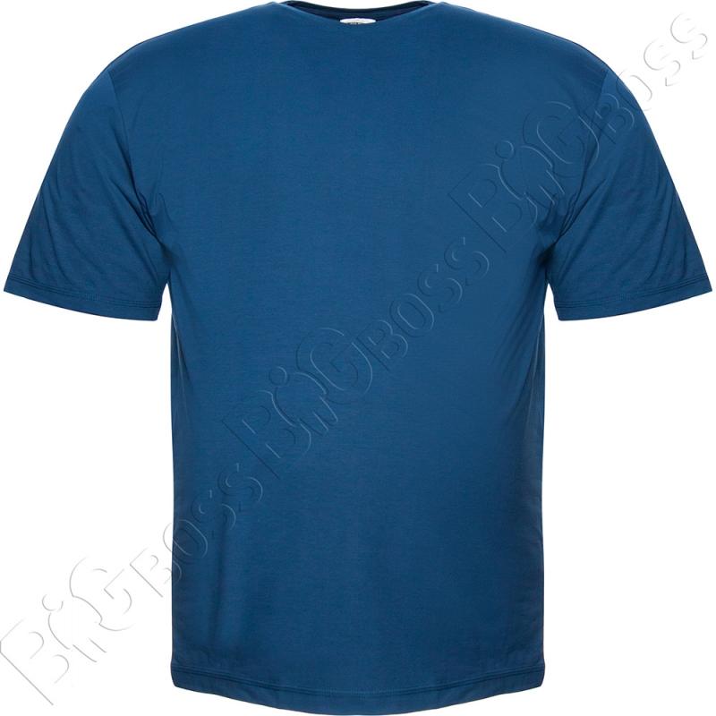Футболка однотонная цвета джинс Big Team 0