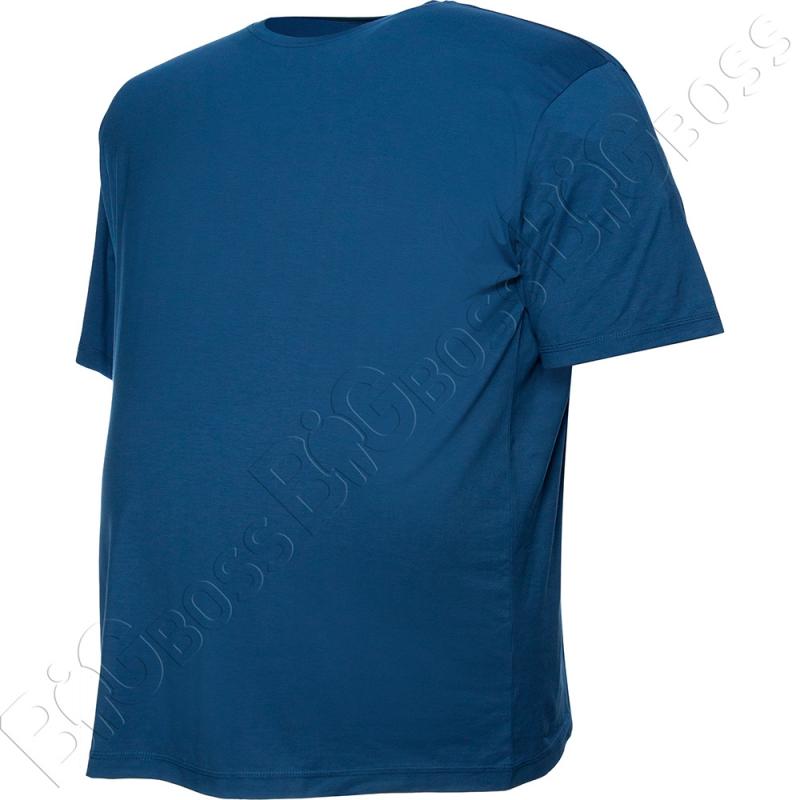 Футболка однотонная цвета джинс Big Team 2
