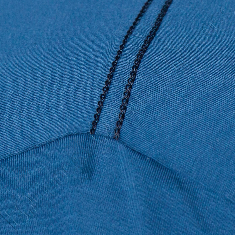 Футболка однотонная цвета джинс Big Team 3