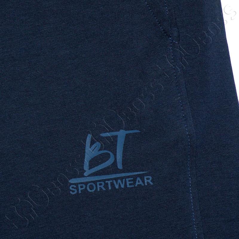 Трикотажные шорты тёмно синего цвета Big Team 1