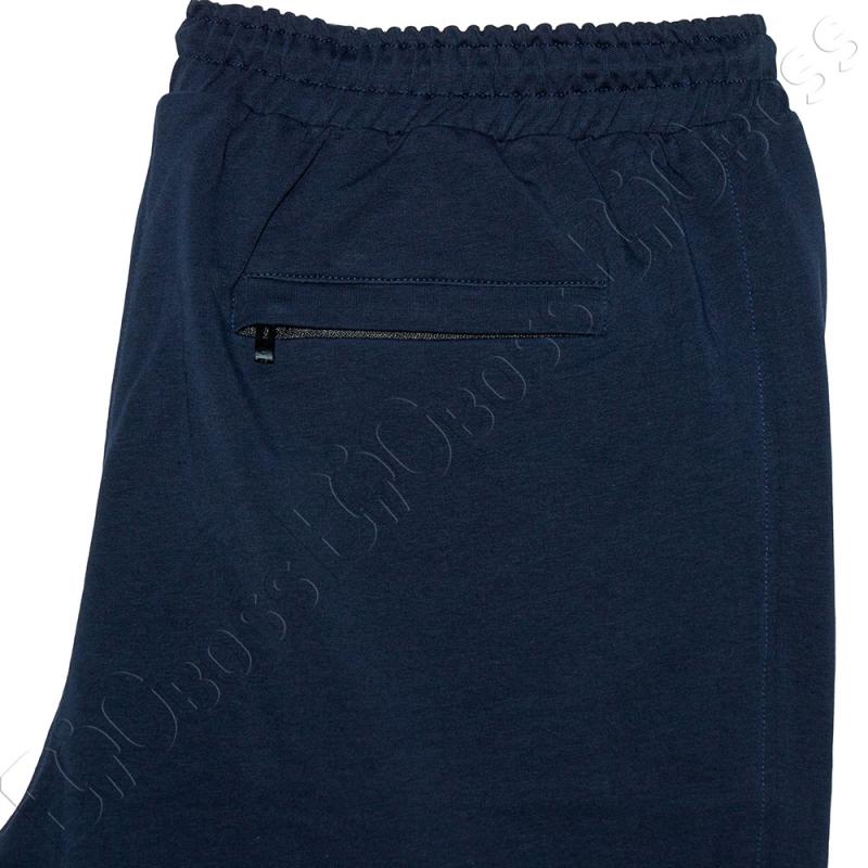 Трикотажные шорты тёмно синего цвета Big Team 4
