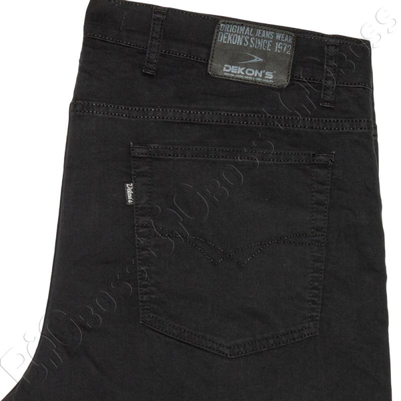 Летние тонкие джинсы чёрного цвета Dekons 4