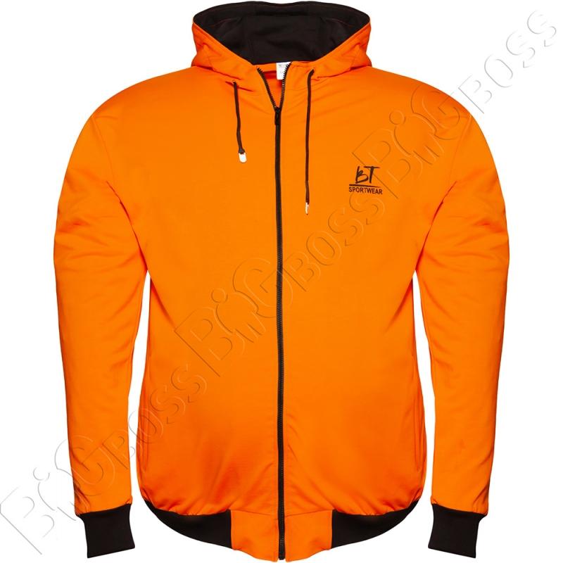 Олимпийка с капюшоном оранжевого цвета Big Team 0