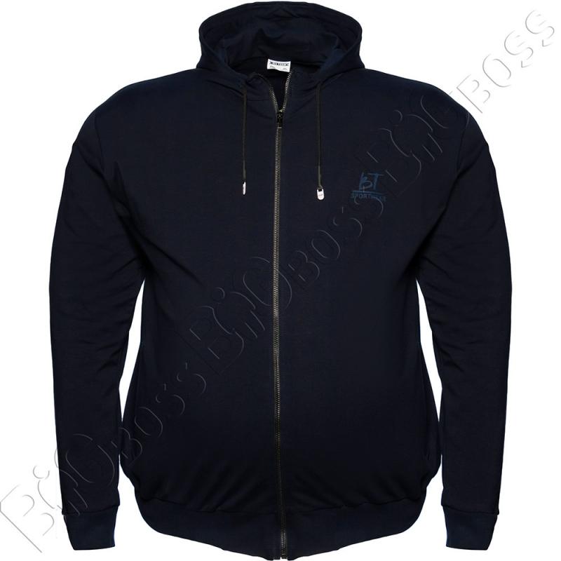 Олимпийка с капюшоном тёмно синего цвета Big Team 0