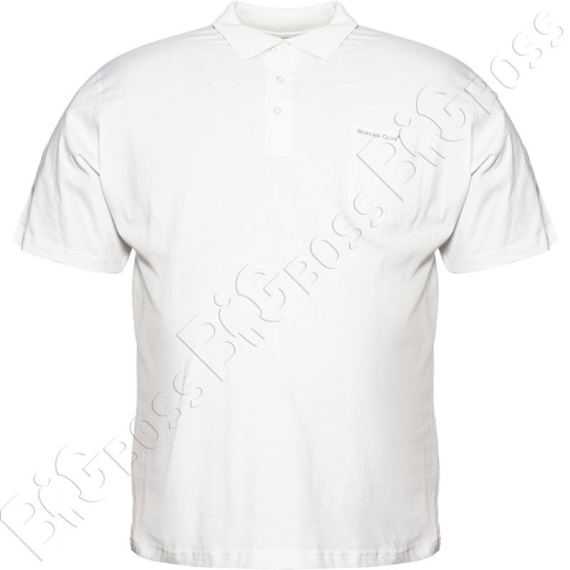 Поло белого цвета Borcan Club 0