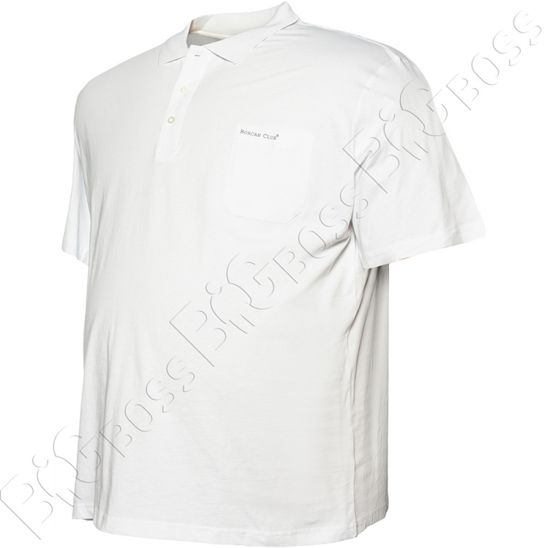 Поло белого цвета Borcan Club 2