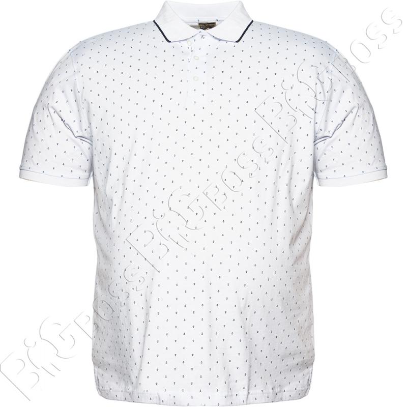 Поло белого цвета в декор Borcan Club 0