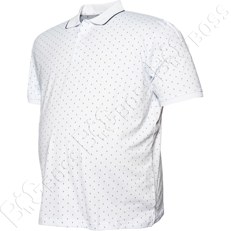 Поло белого цвета в декор Borcan Club 3