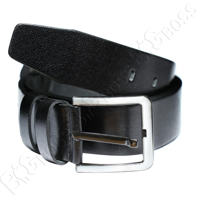 Кожаный ремень чёрного цвета Olser 0