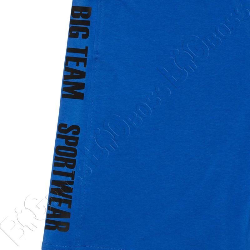 Трикотажные шорты цвета электрик Big Team 2