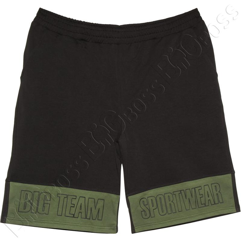Трикотажные шорты чёрного цвета Big Team 0