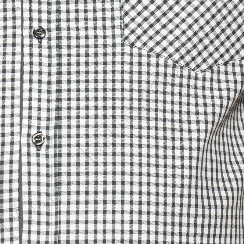 Рубашка короткий рукав в мелкую клетку Big Team 2