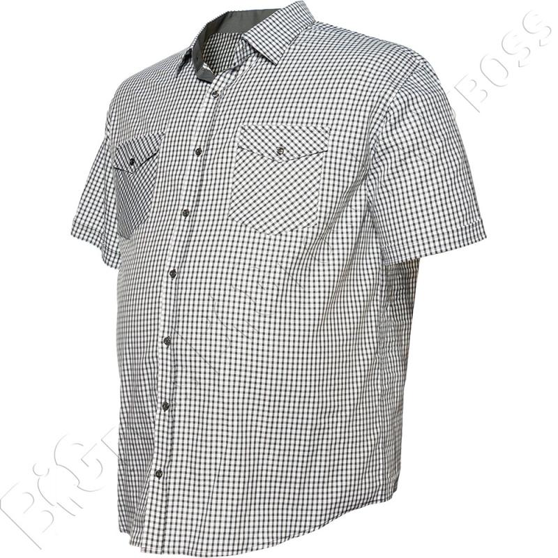 Рубашка короткий рукав в мелкую клетку Big Team 3