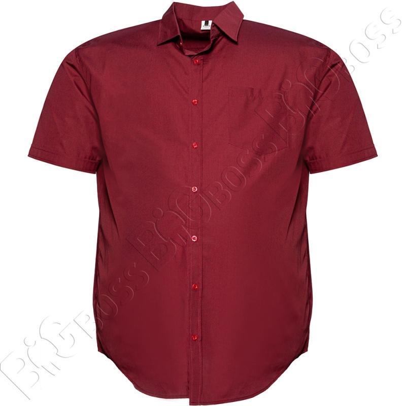 Рубашка короткий рукав бордового цвета Big Team 0